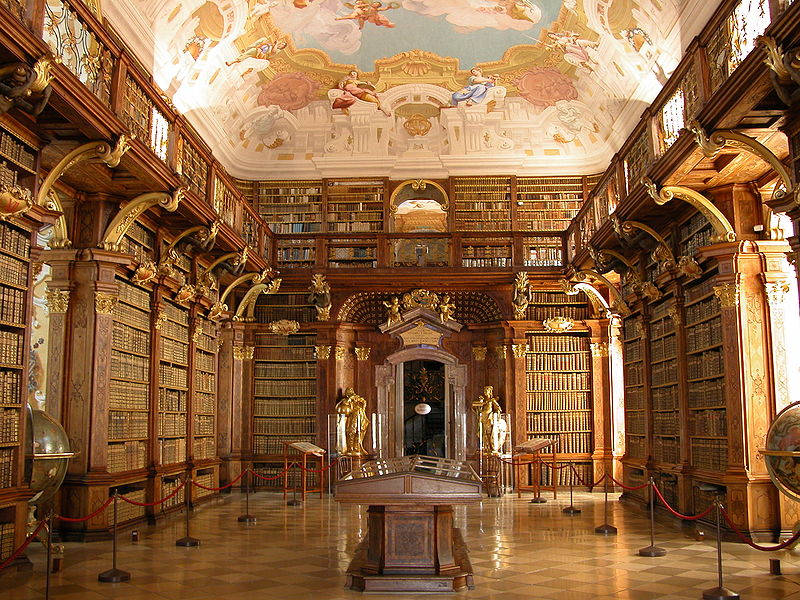 We can't all have libraries as beautiful as the Melk Benedictine Abbey Library in Austria, but all libraries are awesome. Photo: Public Domain