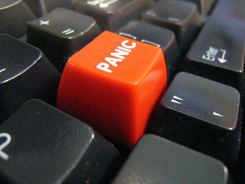Panic. Me. Now. Image by Flickr user star5112. (CC BY-SA 2.0)