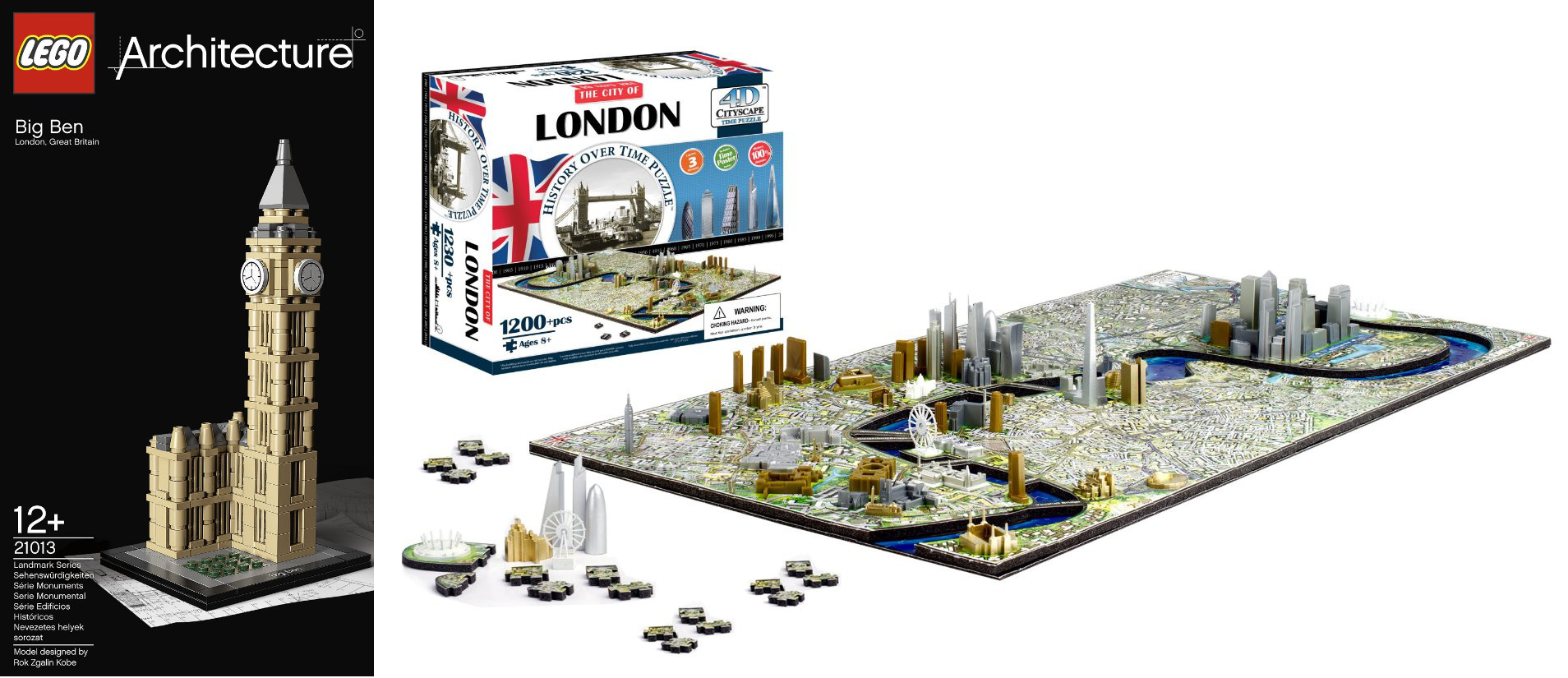 Image: Cityscape (left) and Lego (right)