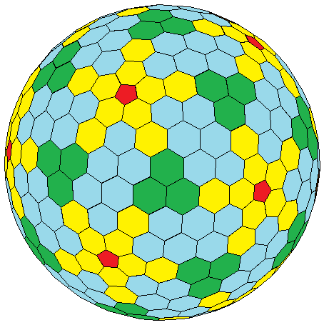 One of Goldberg's polyhedra. Image: Wikimedia Commons (CC BY-SA 3.0)