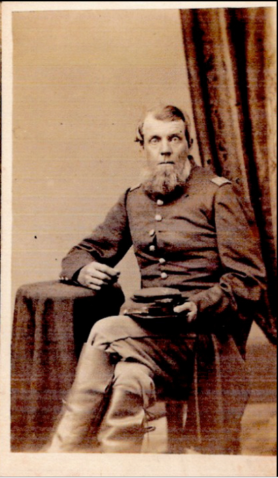 Captain Jeremiah Mosher Sample, my 3rd great grandfather on my dad's side. He was mortally wounded at the Battle of Gettysburg during the Civil War.