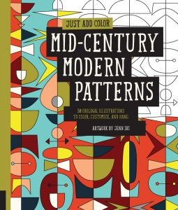 Mid-Century Modern Patterns coloring book. Image: Rockport Publishers
