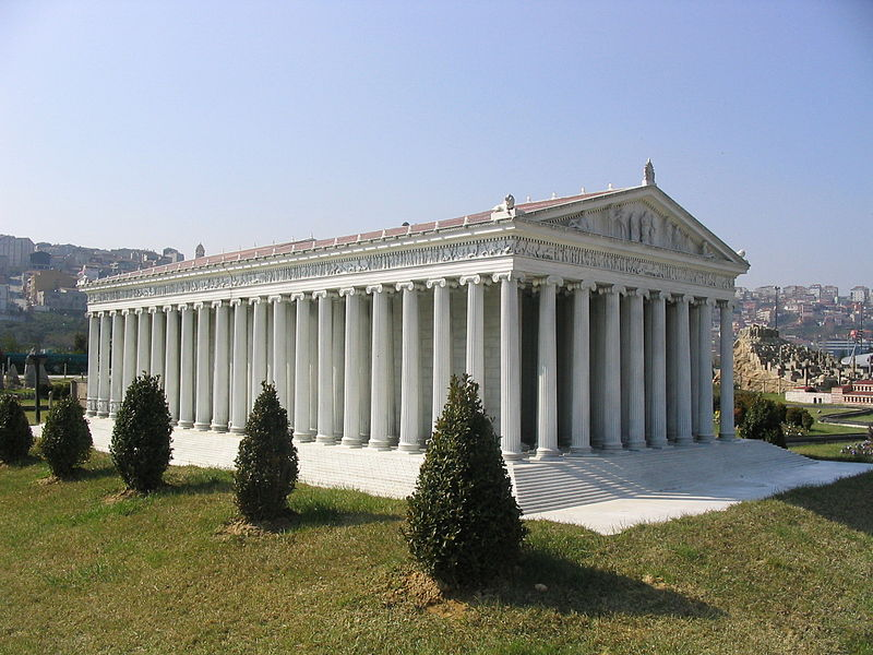 Recreation of the Temple of Artemis by Zee Prime CC-BY-SA-2.5