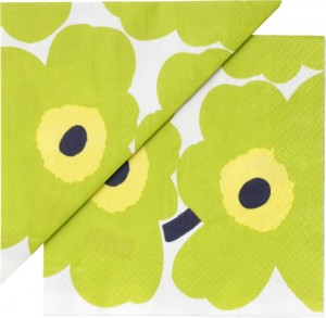 Unikko in lime. This is the same pattern fabric out of which I made my skirt. Image: Crate and Barrel