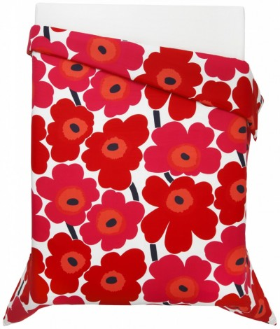 In red, on a duvet cover. Drool. Image: Marimekko