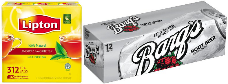 Image: Lipton (L) and Barq's (R)
