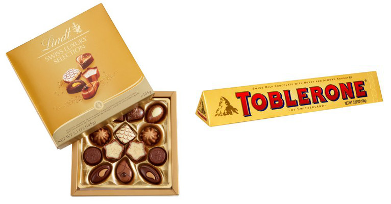 Images: Lindt (L) and Toblerone (R)