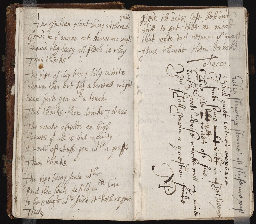 Another example of a commonplace book from the mid 17th century. Image by Wikimedia user Edward (CC BY 2.0)