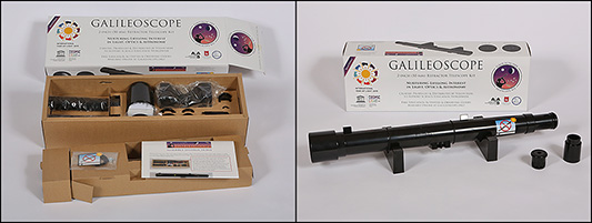 The telescope you get to assemble yourself! Image: Galileoscope.org
