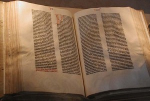 Gutenberg Bible by Wikimedia user Mark Pellegrini