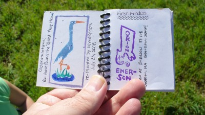 Letterboxing book from a Letterbox, by Flickr user Kevin McGee (CC BY-SA 2.0)
