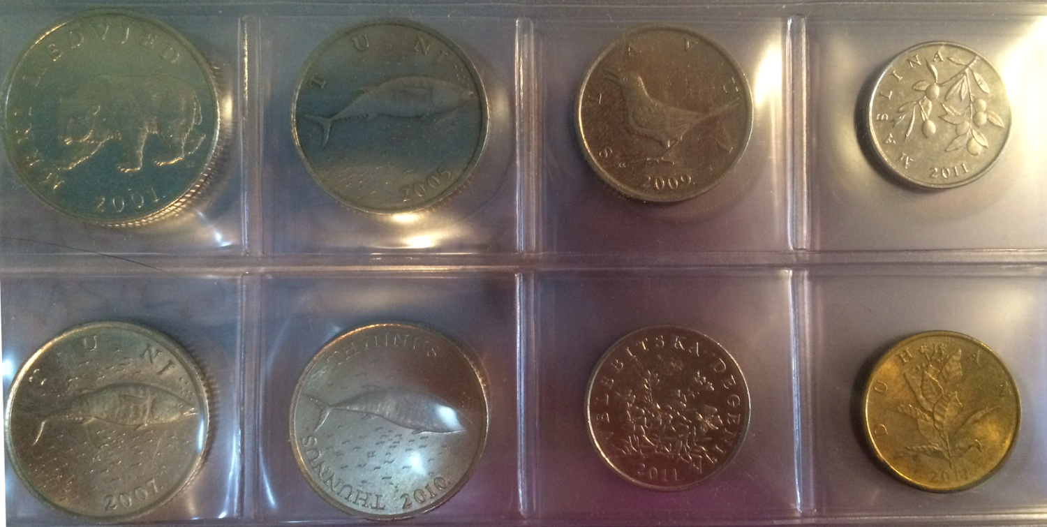 Some of my favorite coins have animals or plants on them. Photo: Jenny Bristol