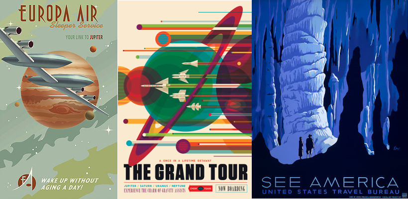 Images: Steve Thomas (L), JPL NASA (M), and WPA (R)