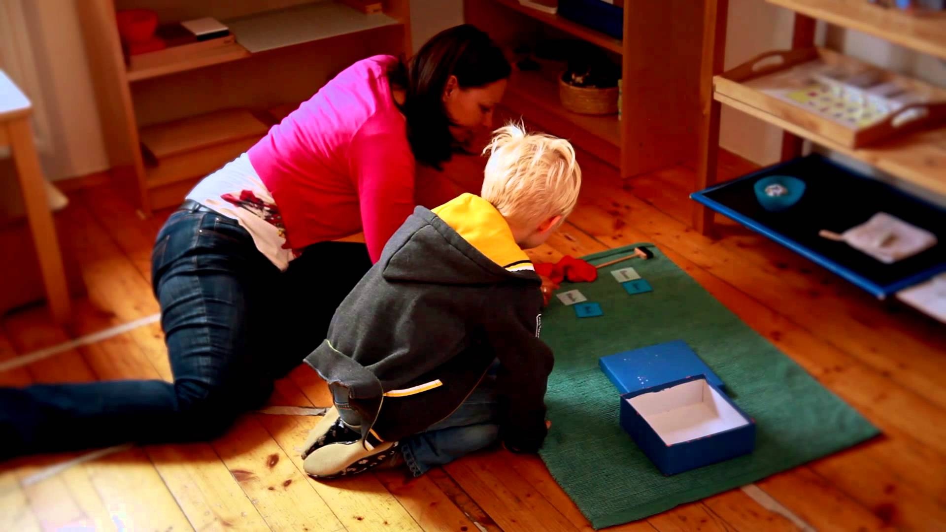 A typical Montessori classroom.