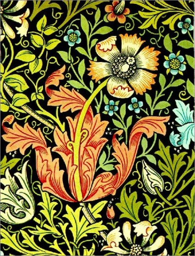 Wallpaper by William Morris. Image credit: Unknown