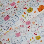 Happy Cats from maigocute.com. Check them out! http://www.maigocute.com/collections/fabric/products/happy-cats-japanese-fabric-cotton-shirting-westex