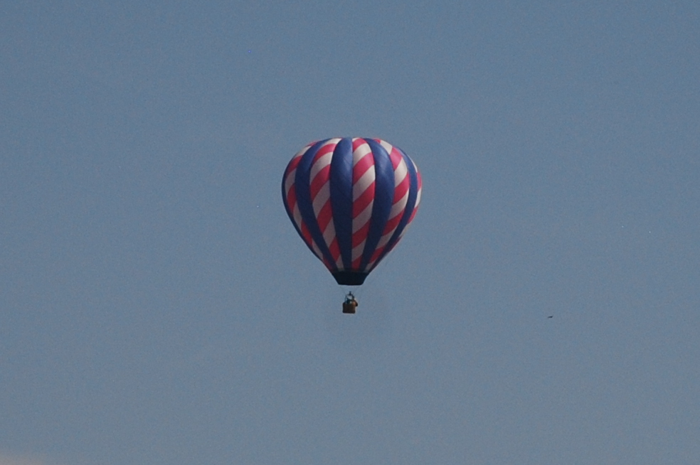 The hot air balloon that was up in the air during the eclipse. Photo: Jenny Bristol