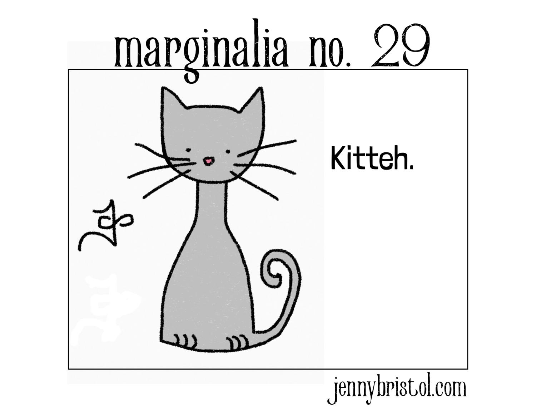 Marginalia no. 29 to post