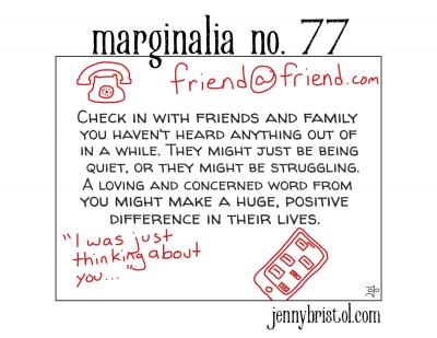 Marginalia No. 77 to post