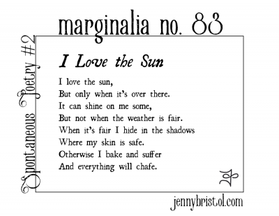 Marginalia no. 83 to post