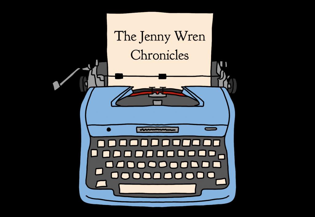 The Jenny Wren Chronicles logo transparent rectangle